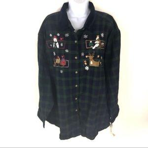Victoria Jones Womens Ugly Christmas Shirt 3XL